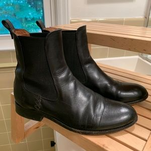 Frye Melissa Chelsea boots black leather 9
